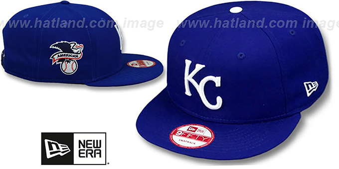 Royals 'LEAGUE REPLICA GAME SNAPBACK' Hat by New Era : pictured without stickers that these products are shipped with