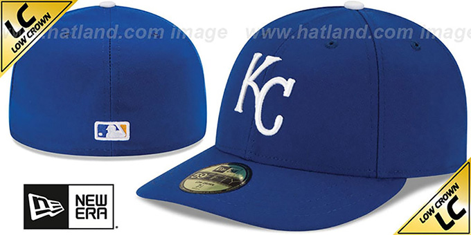 Royals 'LOW-CROWN' GAME Fitted Hat by New Era : pictured without stickers that these products are shipped with