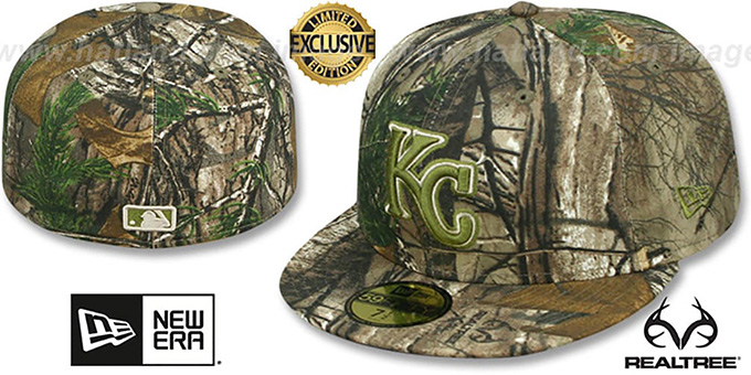 Royals 'MLB TEAM-BASIC' Realtree Camo Fitted Hat by New Era : pictured without stickers that these products are shipped with