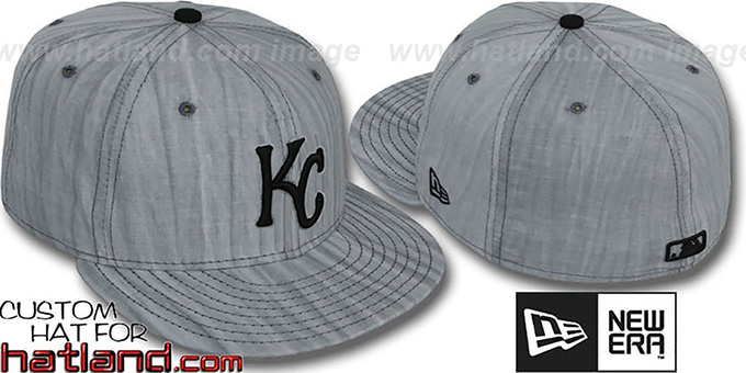 Royals 'MUD-PRINT' Grey Fitted Hat by New Era : pictured without stickers that these products are shipped with