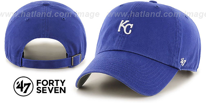 Royals 'POLO STRAPBACK' Royal Hat by Twins 47 Brand : pictured without stickers that these products are shipped with