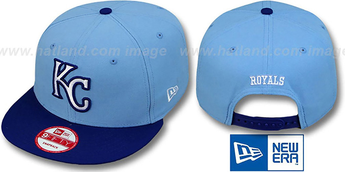 Royals 'REPLICA ALTERNATE SNAPBACK' Hat by New Era : pictured without stickers that these products are shipped with