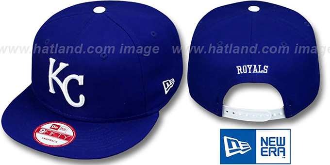 Royals 'REPLICA GAME SNAPBACK' Hat by New Era : pictured without stickers that these products are shipped with