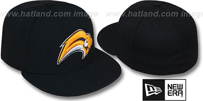 Sabres 'NHL TEAM-BASIC' Black Fitted Hat by New Era : pictured without stickers that these products are shipped with