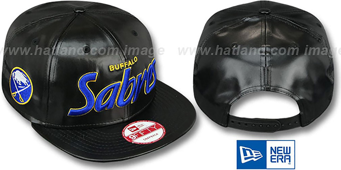 Sabres 'REDUX SNAPBACK' Black Hat by New Era : pictured without stickers that these products are shipped with