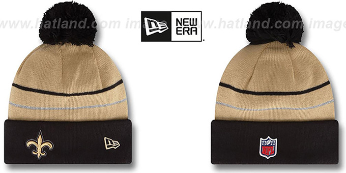 Saints 'THANKSGIVING DAY' Knit Beanie Hat by New Era : pictured without stickers that these products are shipped with