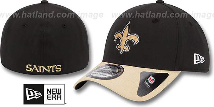 Saints '2015 NFL DRAFT FLEX'  Hat by New Era : pictured without stickers that these products are shipped with