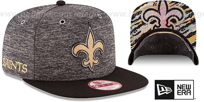 Saints '2016 NFL DRAFT SNAPBACK' Hat by New Era : pictured without stickers that these products are shipped with