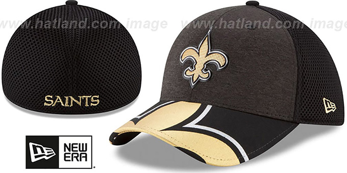 a77a427b4 New Orleans Saints 2017 NFL ONSTAGE FLEX Hat by New Era