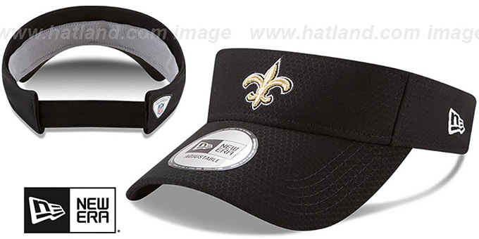 Saints '2017 NFL TRAINING VISOR' Black by New Era