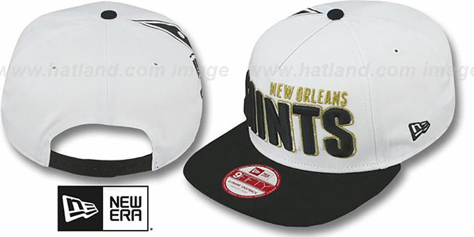 Saints BIGSIDE A-FRAME SNAPBACK White-Black Hat by New Era