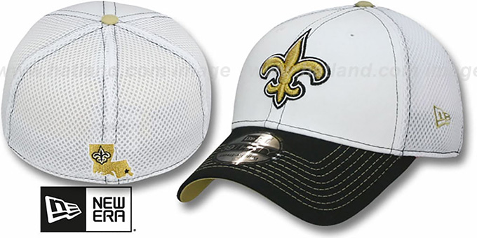 Saints 'BLITZ NEO FLEX' Hat by New Era : pictured without stickers that these products are shipped with
