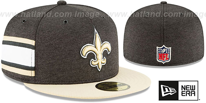 Saints 'HOME ONFIELD STADIUM' Black-Gold Fitted Hat by New Era