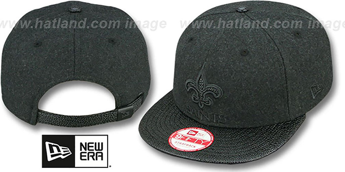 Saints 'MELTON STINGER STRAPBACK' Hat by New Era : pictured without stickers that these products are shipped with