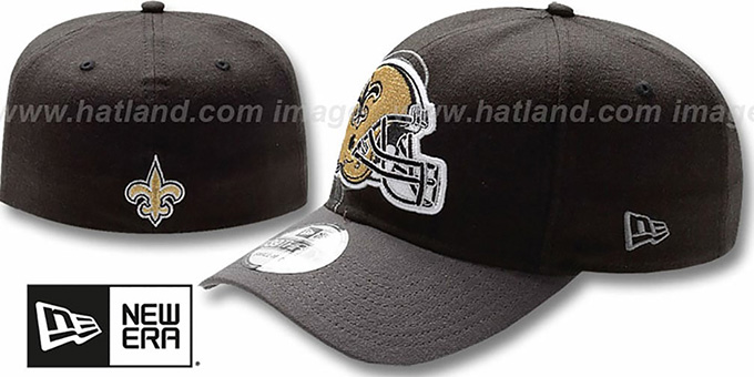 Saints 'NFL BLACK-CLASSIC FLEX' Hat by New Era : pictured without stickers that these products are shipped with