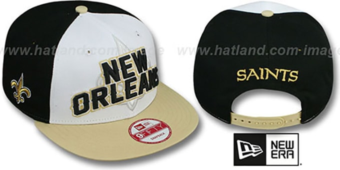 Saints 'NFL ONFIELD DRAFT SNAPBACK' Hat by New Era : pictured without stickers that these products are shipped with
