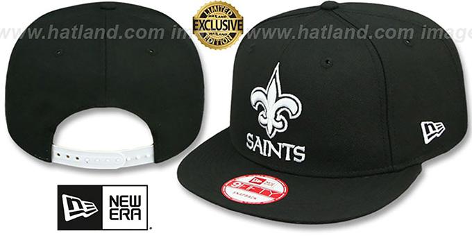 Saints TEAM-BASIC SNAPBACK Black-White Hat by New Era 654d80586