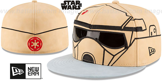 Scarif Trooper 'CHARACTER FACE' Fitted Hat by New Era : pictured without stickers that these products are shipped with