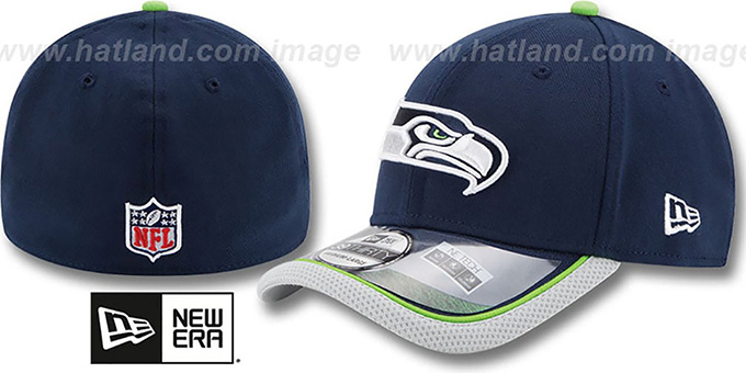 Seahawks '2014 NFL STADIUM FLEX' Navy Hat by New Era : pictured without stickers that these products are shipped with