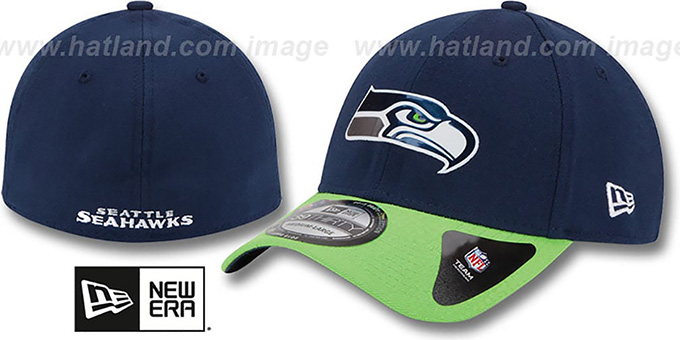 Seahawks '2015 NFL DRAFT FLEX' Hat by New Era : pictured without stickers that these products are shipped with