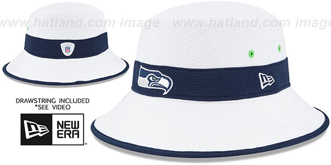Seahawks '2015 NFL TRAINING BUCKET' White Hat by New Era