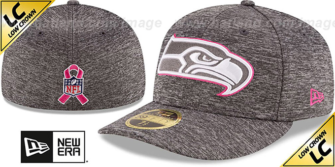Seahawks '2016 LOW-CROWN BCA' Grey Fitted Hat by New Era : pictured without stickers that these products are shipped with