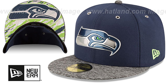 Seahawks '2016 NFL DRAFT' Fitted Hat by New Era : pictured without stickers that these products are shipped with