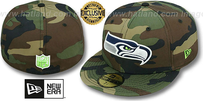 b71b0a7ded5c08 Seahawks 'NFL TEAM-BASIC' Army Camo Fitted Hat by ...