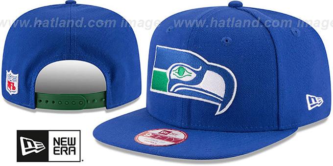 e0d49818 Seattle Seahawks RETRO-BASIC SNAPBACK Royal Hat by New Era