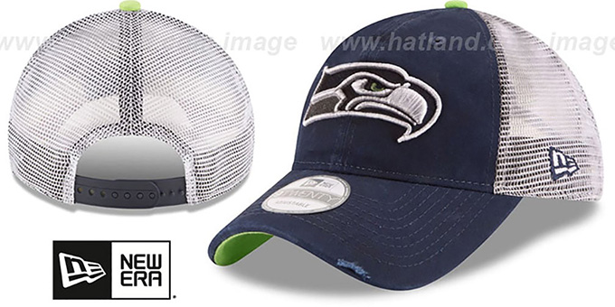 Seahawks 'RUSTIC TRUCKER SNAPBACK' Hat by New Era : pictured without stickers that these products are shipped with
