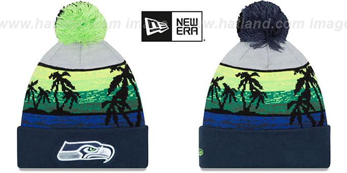 adc31a7862f33 Jacksonville Jaguars NFL FIRESIDE Black-Teal Knit Beanie Hat
