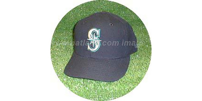 Seattle Mariners 'GAME' Hat : pictured without stickers that these products are shipped with