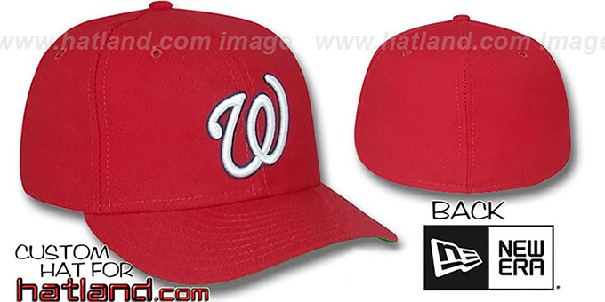 Senators 1968-71 'GAME' Hat by New Era - red : pictured without stickers that these products are shipped with