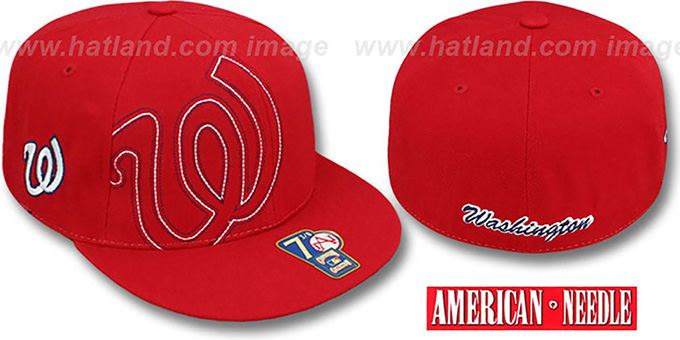 Senators 'HEADSTRONG' Red Fitted Hat by American Needle : pictured without stickers that these products are shipped with
