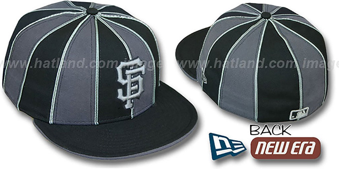 SF Giants '12-PACK' Black-Grey Fitted Hat by New Era : pictured without stickers that these products are shipped with