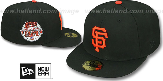 SF Giants 1984 'SIDE ALL-STAR-PATCH' Fitted Hat by New Era : pictured without stickers that these products are shipped with