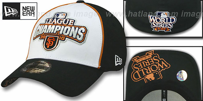SF Giants 2010 'NATIONAL LEAGUE CHAMPS' Hat by New Era : pictured without stickers that these products are shipped with