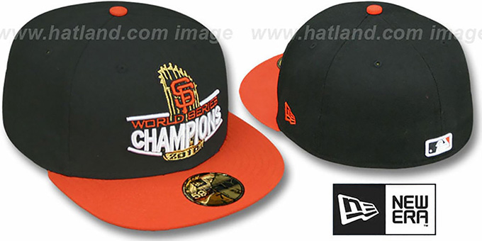SF Giants 2010 'TROPHY CHAMPIONS' Hat by New Era : pictured without stickers that these products are shipped with