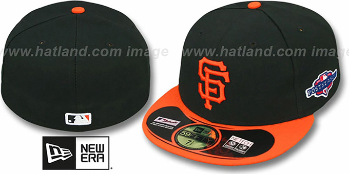 SF Giants 2012 'PLAYOFF ALTERNATE' Hat by New Era : pictured without stickers that these products are shipped with