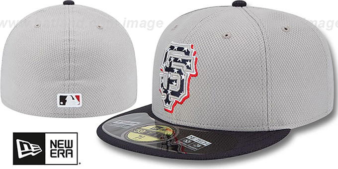 SF Giants 2013 'JULY 4TH STARS N STRIPES' Hat by New Era : pictured without stickers that these products are shipped with