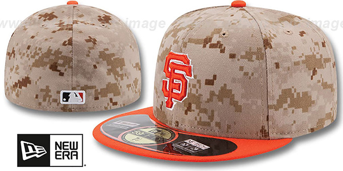 SF Giants '2014 STARS N STRIPES' Fitted Hat by New Era : pictured without stickers that these products are shipped with