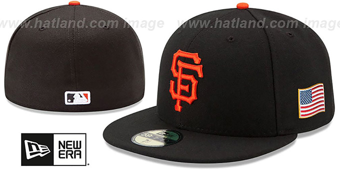 SF Giants '2015 STARS-N-STRIPES 911 GAME' Hat by New Era : pictured without stickers that these products are shipped with