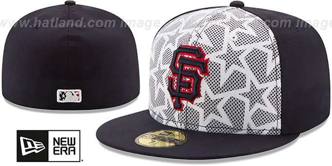 6aaeb4f346415 San Francisco SF Giants 2016 JULY 4TH STARS N STRIPES Fitted Hat