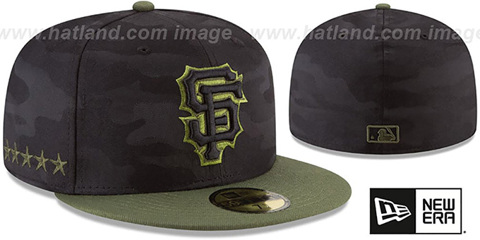 buy online 370ef e327e SF Giants 2018 MEMORIAL DAY  STARS N STRIPES  Hat by ...