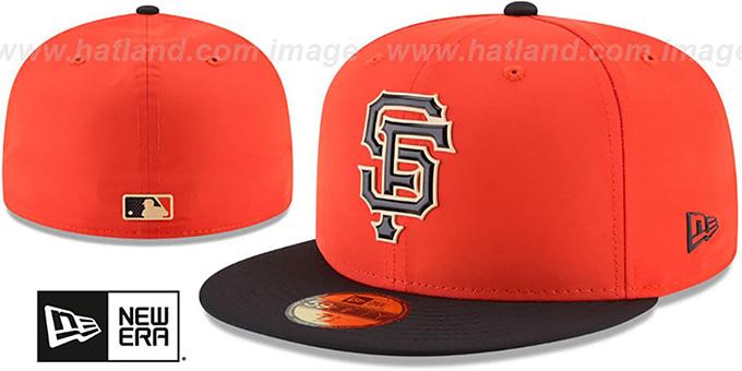 100% authentic 9d971 1c7e4 SF Giants  2018 PROLIGHT-BP  Orange-Black Fitted Hat by New Era