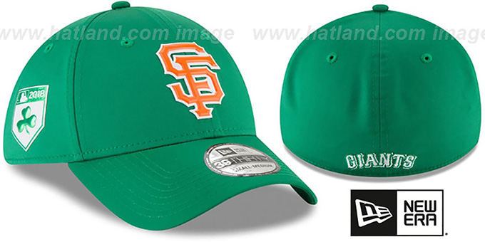 release date: 18ab5 6ad13 SF Giants  2018 ST PATRICKS DAY FLEX  Hat by New Era