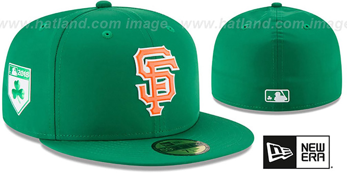 SF Giants '2018 ST PATRICKS DAY' Hat by New Era : pictured without stickers that these products are shipped with