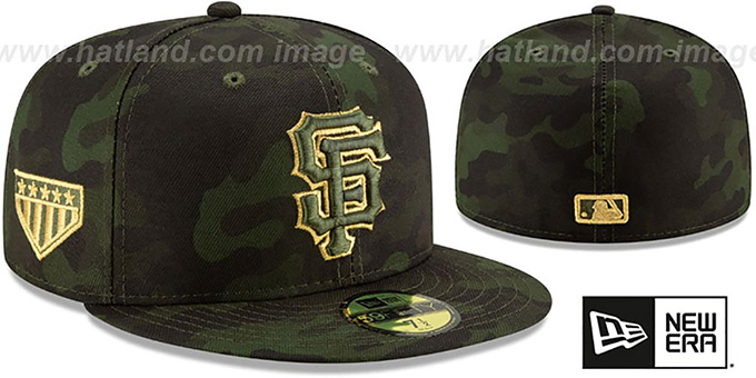 4228b83d San Francisco SF Giants 2019 ARMED FORCES STARS N STRIPES Hat by New Era