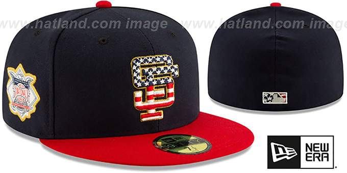 SF Giants '2019 JULY 4TH STARS N STRIPES' Fitted Hat by New Era