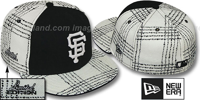 SF Giants 'ARMANI GOLD STAR' Fitted Hat by New Era : pictured without stickers that these products are shipped with